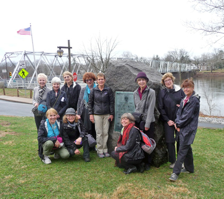 "The group prepares to cross into Delaware the ""easy way"" — by bridge. Photo courtesy of Kathy Beiver"