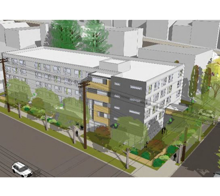 The design concept for DESC's Interbay Supportive Housing. Courtesy of DESC/SMR Architects