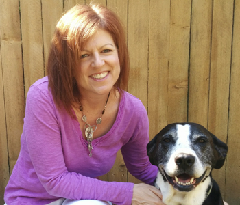 Dog trainer Colleen Wells and her dog, Rosie. Photo courtesy of Colleen Wells