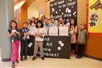Elementary students team up for hygiene drive