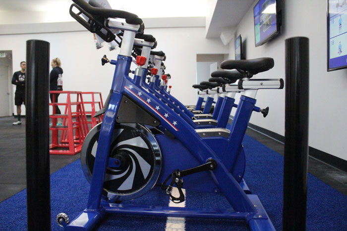 Photos by Brandon Macz: F45 Training focuses on high-intensity group workouts that are never duplicated.