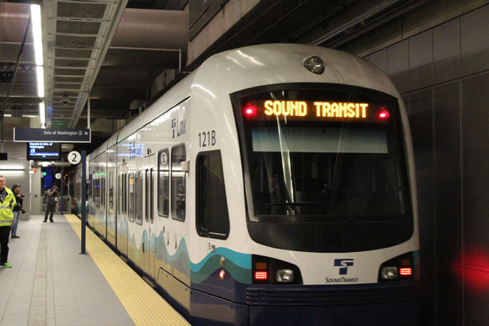 Photo by Brandon Macz: Sound Transit light rail service will be reduced during 10 weeks of construction, starting on Jan. 4.